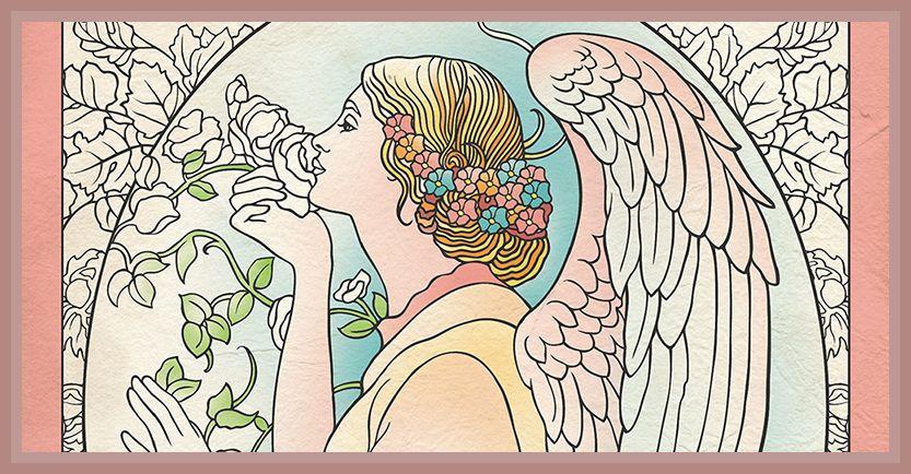 Színezd magad stresszmentesre az angyalok segítségével