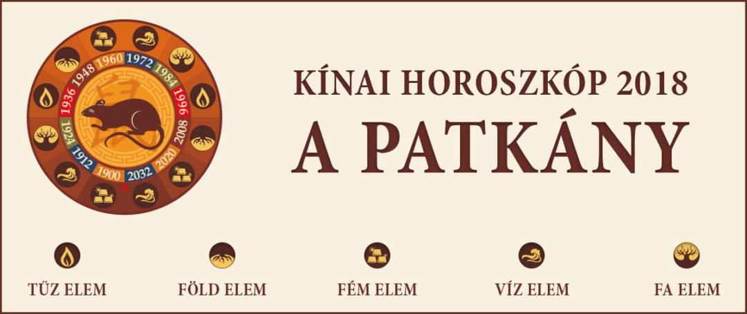 A Patkány – Kínai horoszkóp 2018