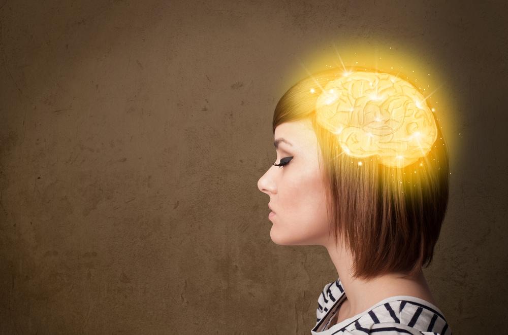 nő agy izgatott szorong