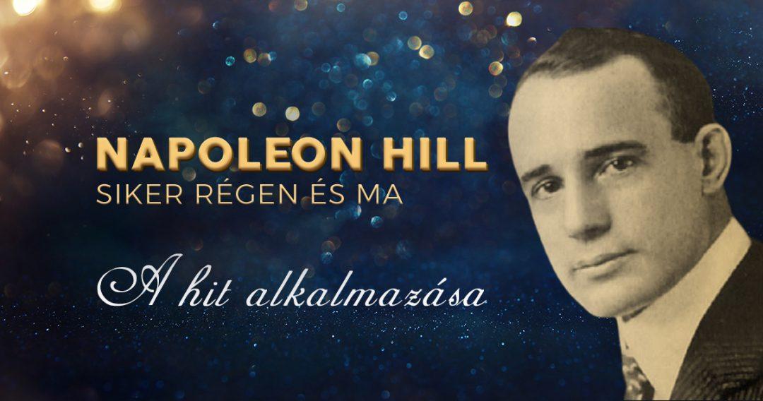 Napoleon Hill: A hit alkalmazása
